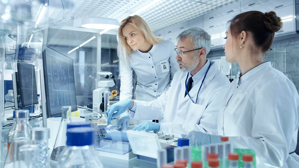 Team of Research Scientists Working With