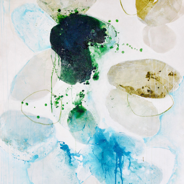 """Sea Lichen 56"""" x 44"""" Mixed media on canvas $5500 sale"""
