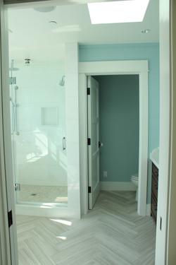 Master Bath limestone flooring