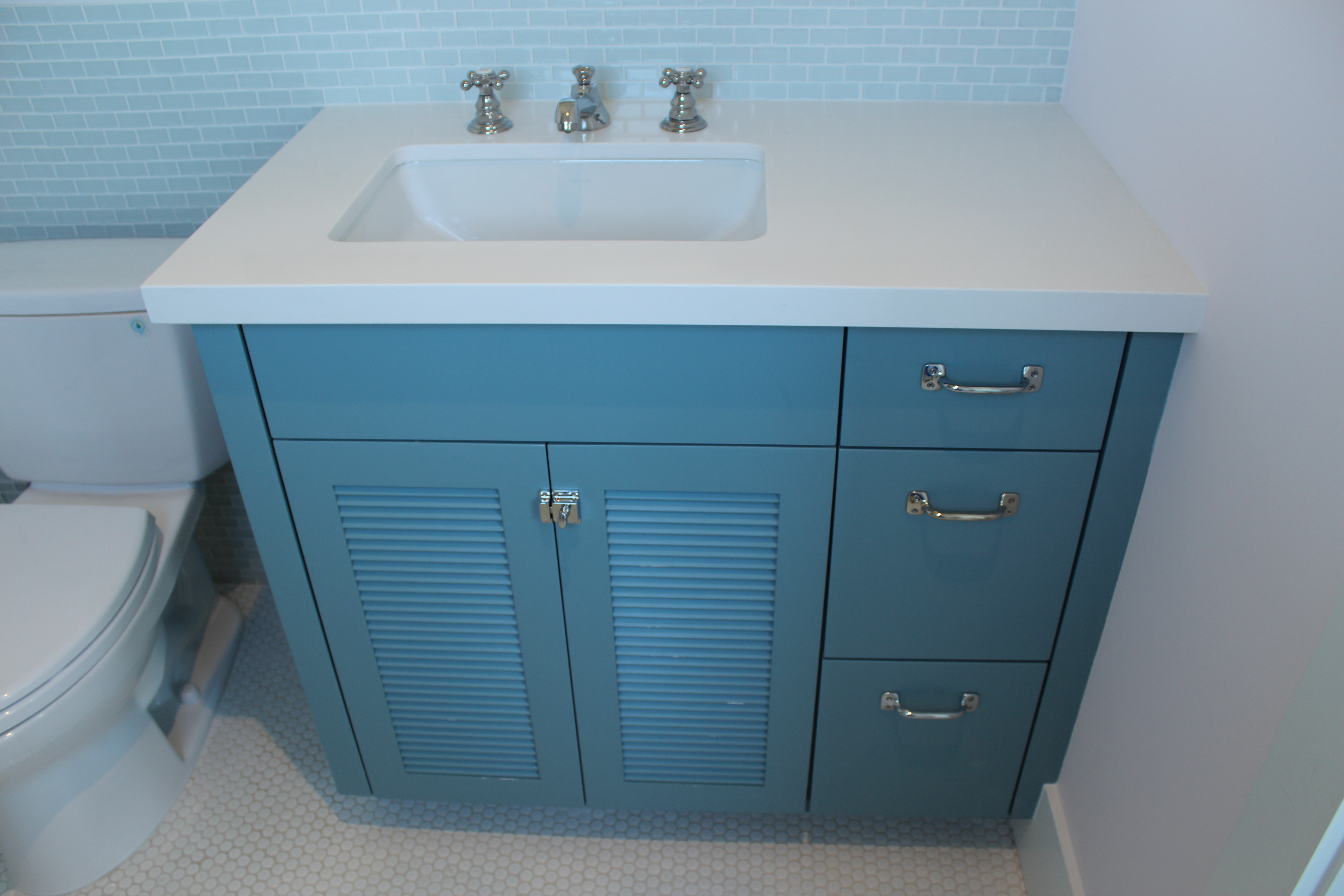 Girls bath cabinet