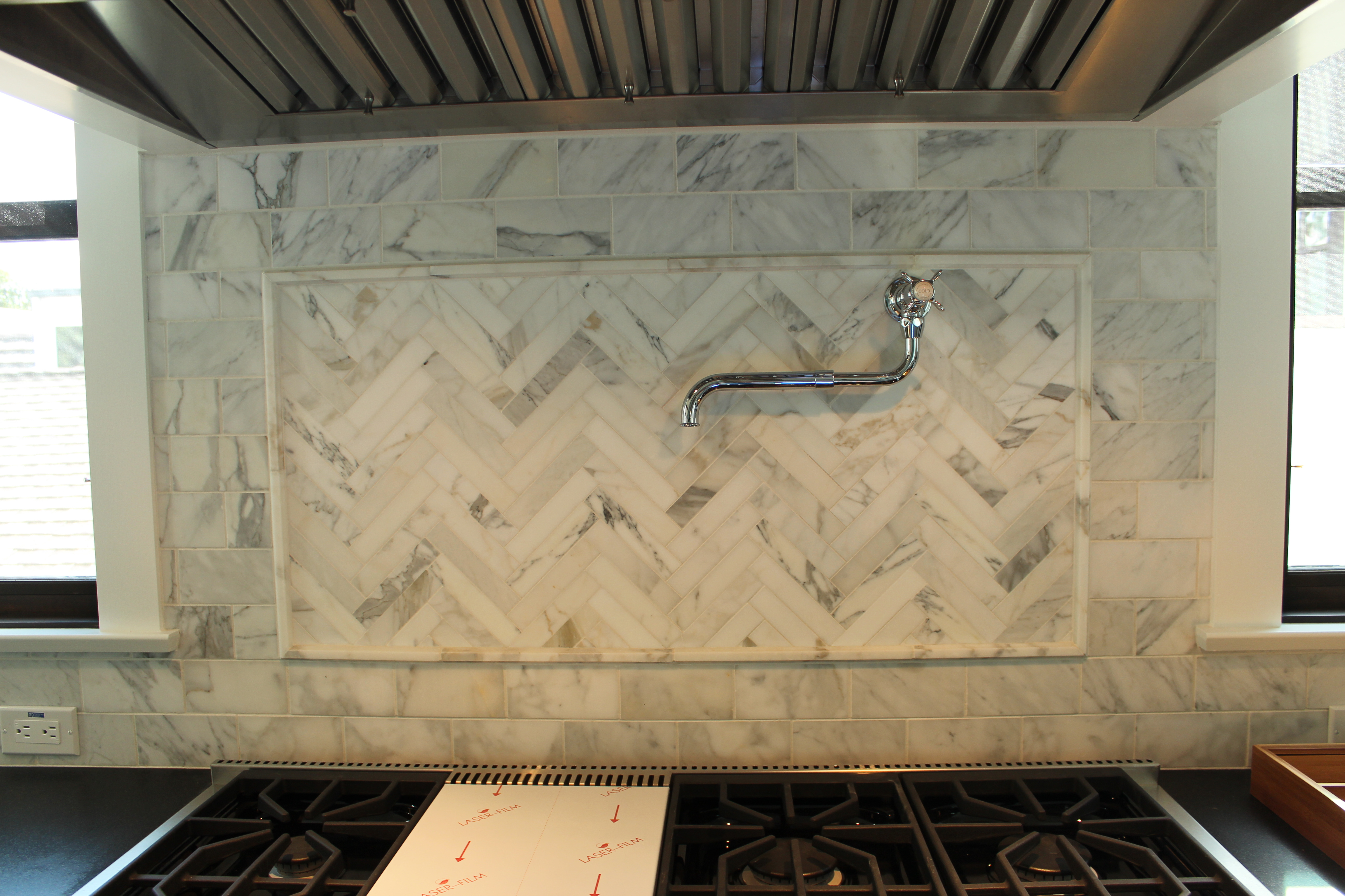 Kitchen backsplash detail