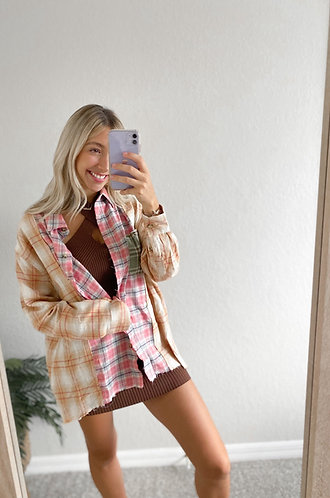 Ready To Fall Flannel- Orange Mix