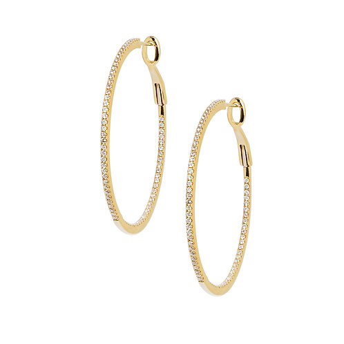 Diamond Hoop Earrings