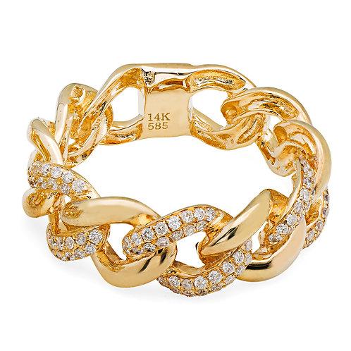 Alternating Diamond Link Ring