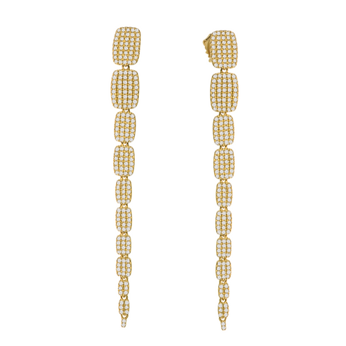 Tapered Pave Earrings