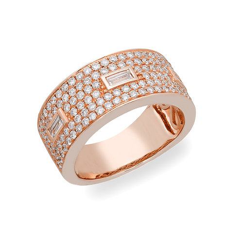 Pave and Baguette Band