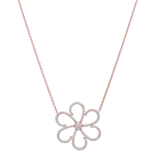 Open Flower Necklace