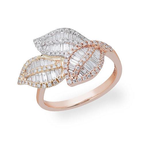 Tri-Color Leaf Ring