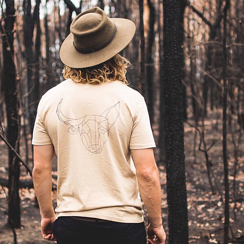 Buckin' Dog Staple Tee Tan