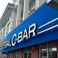 Legal C Bar Channel Letters