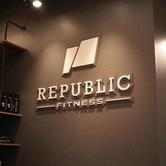 Republic Fitness Dimensional Letters