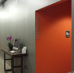 Restroom Dimensional Letters