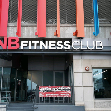 NB Fitness Club Channel Letters
