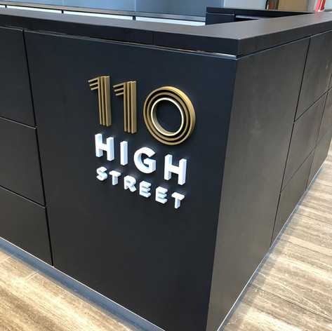 110 High Street Dimensional Letters