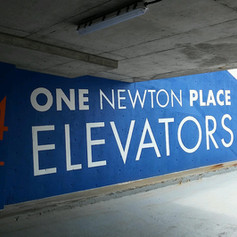 One Newton Place Vinyl Graphics