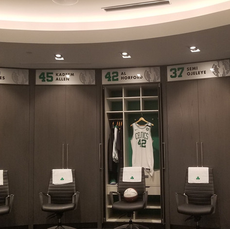Boston Celtics Locker Room Nameplates