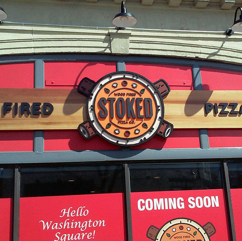 Stoked Pizza Wall Sign