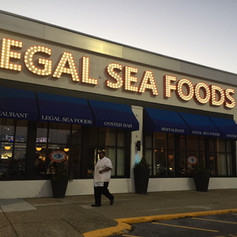 Legal Seafoods Marquee Sign