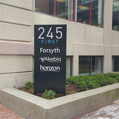 245 First St. Monument Sign