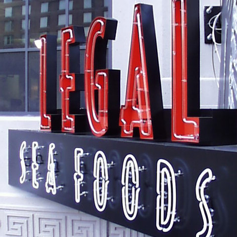 Legal Seafoods Neon Sign