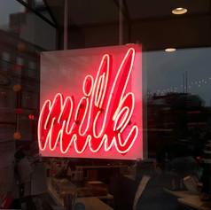 Milk Neon Sign
