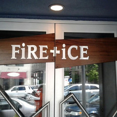 Fire and Ice Custom Sign