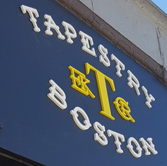 Tapestry Boston Dimensional Letters