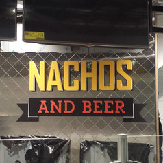 Nachos and Beer Dimensional Letters