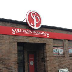 Sullivan's Pharmacy Dimensional Letters