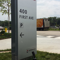 400 First Ave Monument Sign