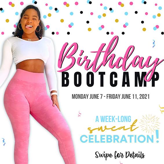 Birthday Bootcamp Class Pass Registration