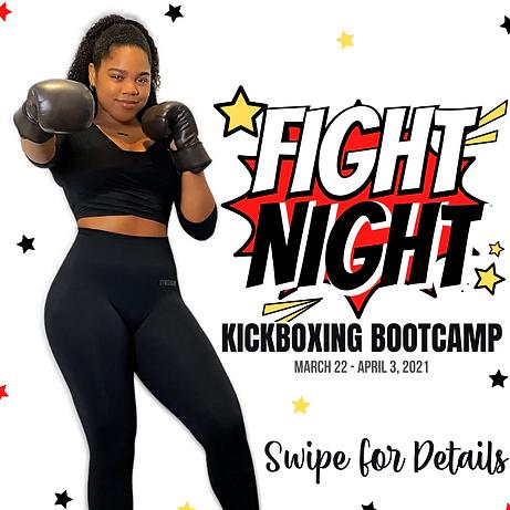 Fight Night Kickboxing Bootcamp Registration