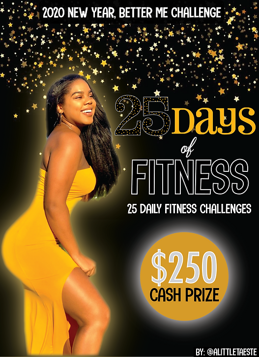 25 Days of Fitness - 2020 New Year, Better Me Challenge