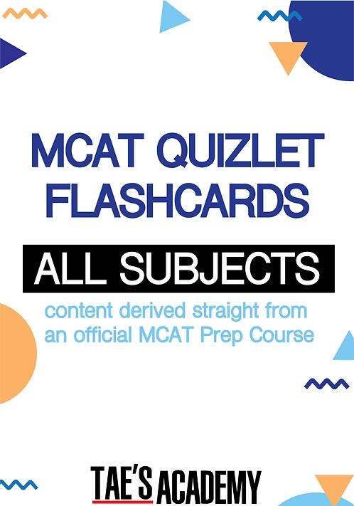 Tae's Academy MCAT Flashcards