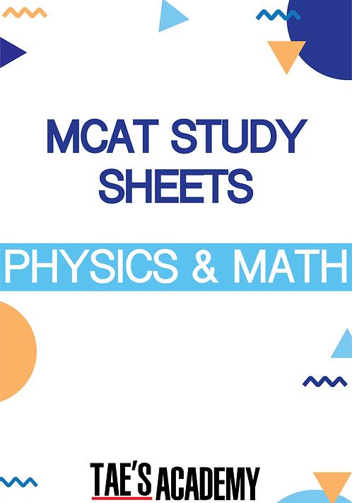 MCAT Study Sheets - Physics & Math
