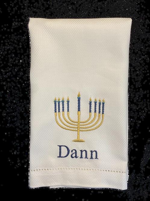 Menorah Hand Towel