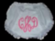 Monogrammed Diaper Cover