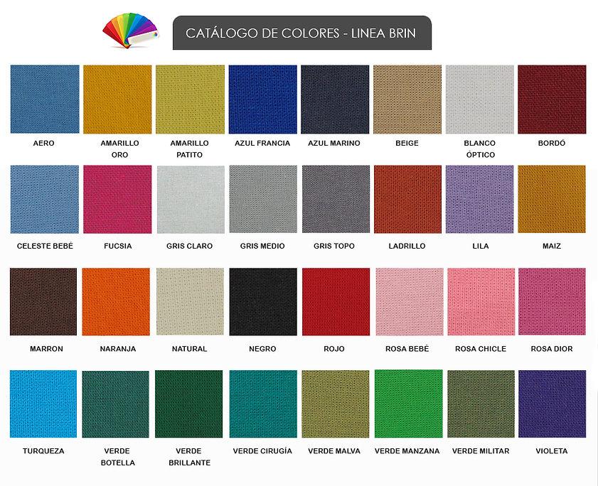 Catálogo d colores brin