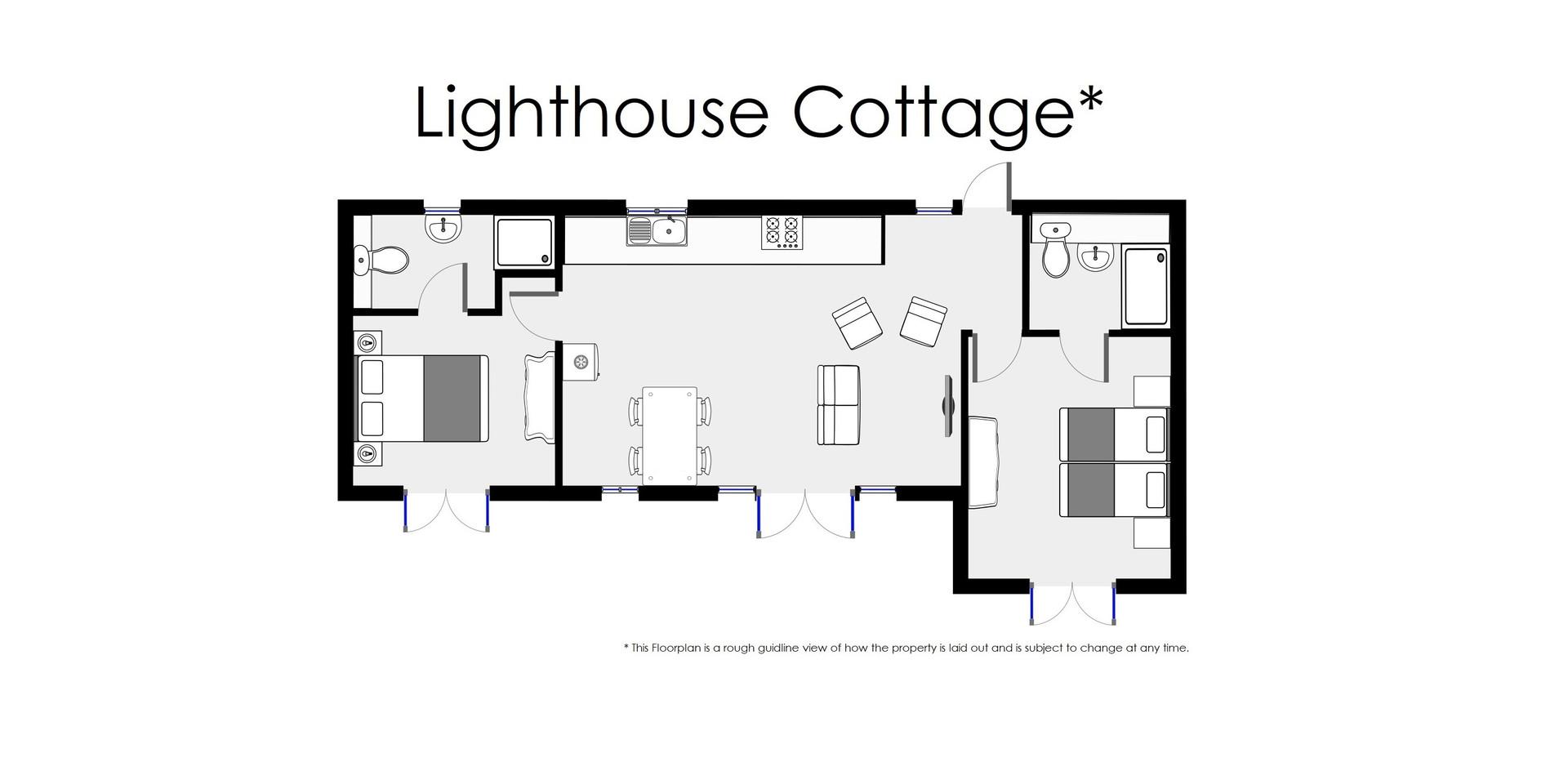 Floorplan - Lighthouse Cottage - Oak Tree Cottages