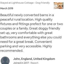 Love a good review 😍 #lighthousecottage