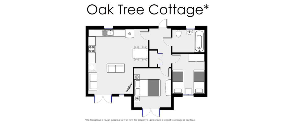Floorplan - Oaktree Cottage - Oak Tree Cottages