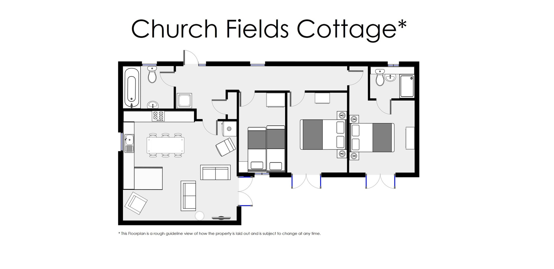 Floorplan - Oak Tree Cottages - Church Fields Cottage
