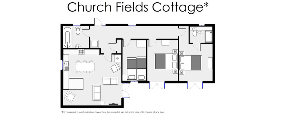 Floorplan - Oak Tree Cottages - Church Fields Cottage