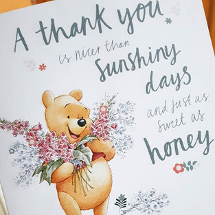 Lovely thank you card from a recent gues