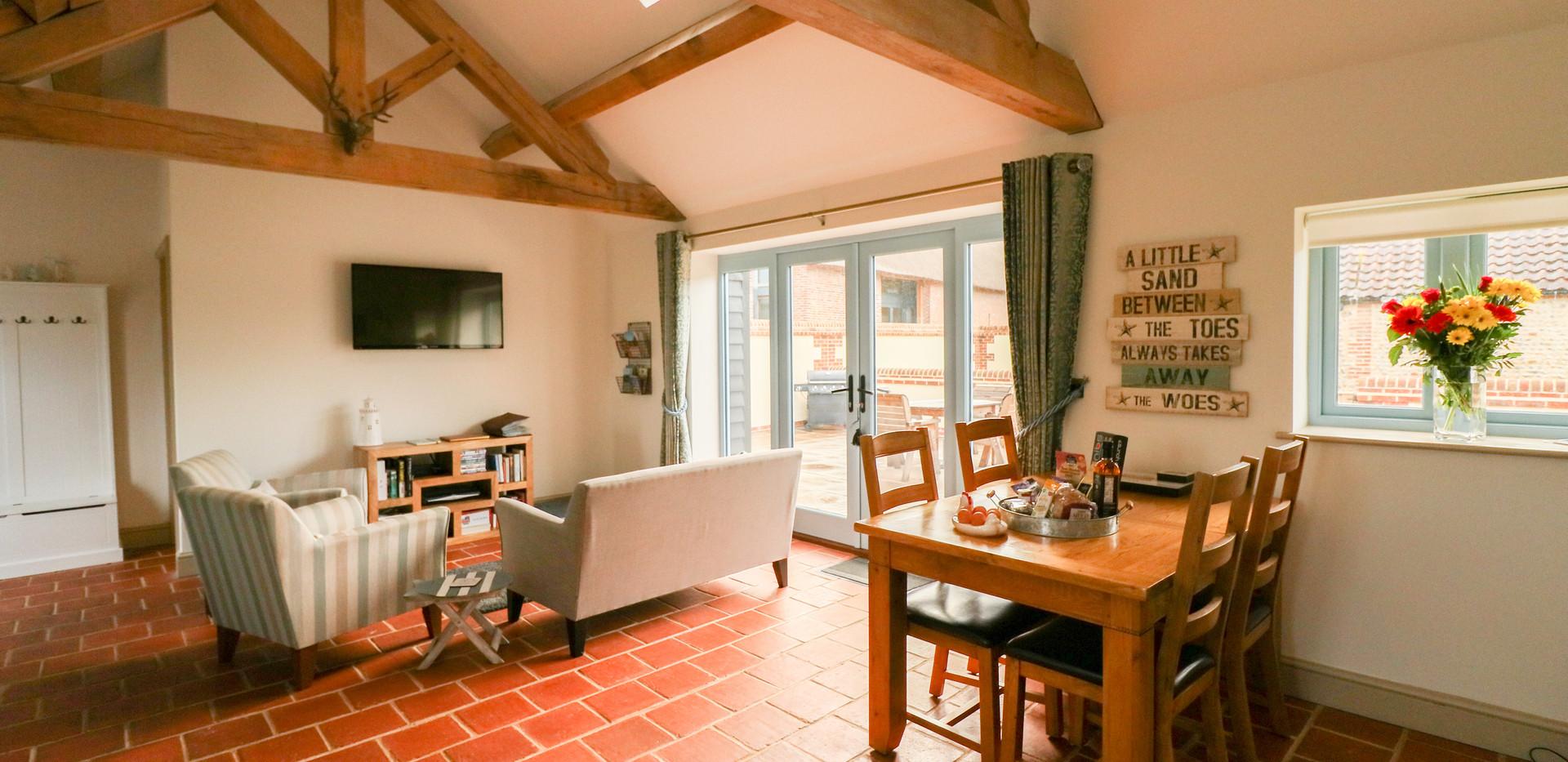 Open plan living area - Oak Tree Cottages - Lighthouse Cottage