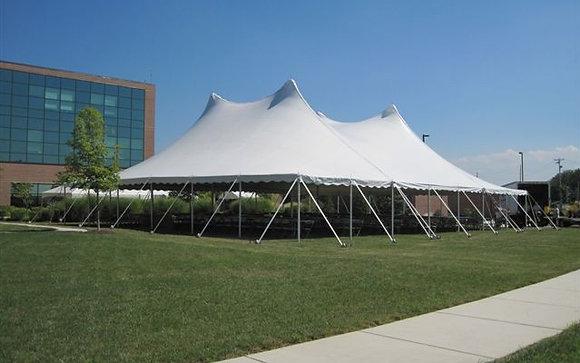 60 x 70 White Pole Tent