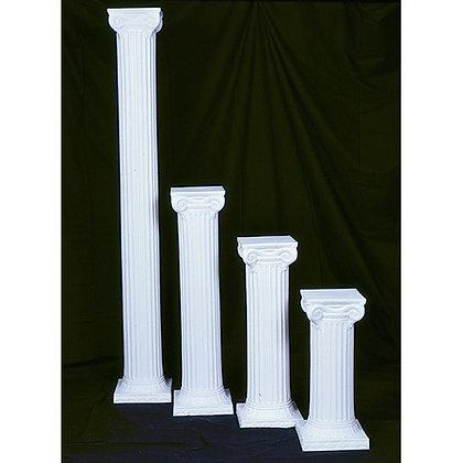 White Plastic Columns Per Pair