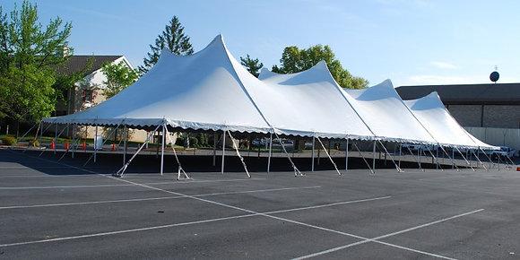 60 x 130 White Pole Tent