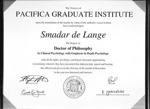 Ph.D Certificate