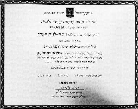 Israeli License